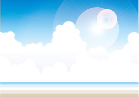 Blue sky - sea