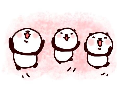 Happy panda (background pink)