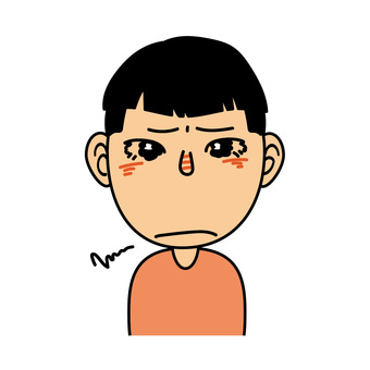 Boy _F Expression that seems to cry
