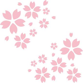 벚꽃의 꽃잎 (사쿠라의 꽃) 벚꽃 장식