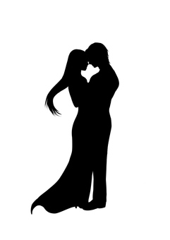 Love love silhouette