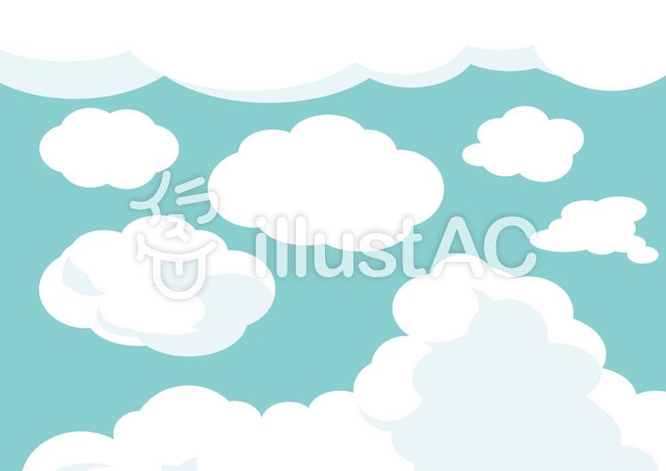 雲イラストセットのイラスト