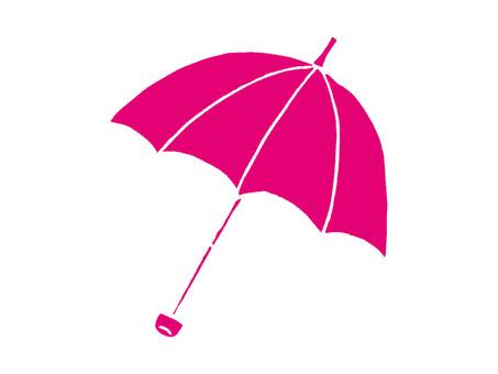 Folding umbrella pink