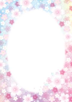 Cherry blossoms frame background