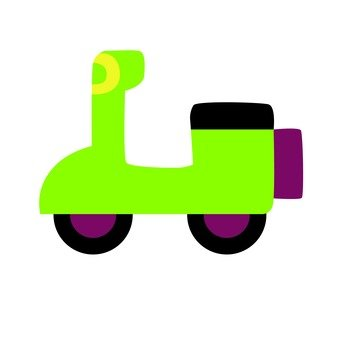 Yellow-green scooter