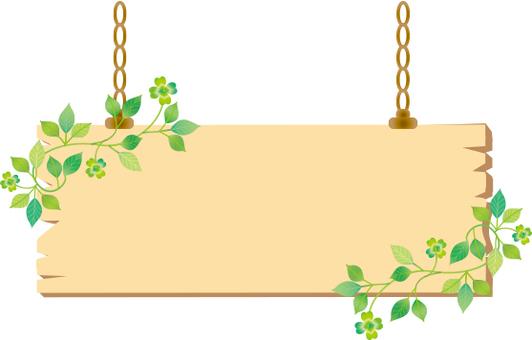 Leaf hanging signboard