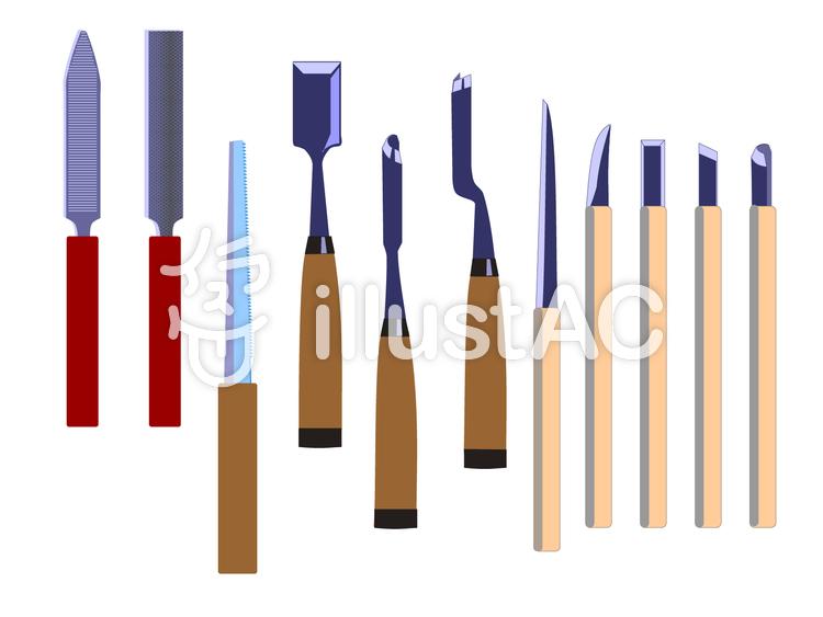 彫刻用工具のイラスト