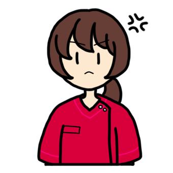 Angry female nurse