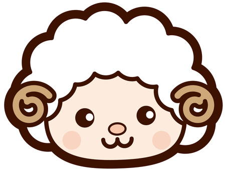 Cute sheep's face