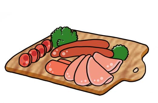 火腿薩拉米香腸