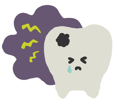 虫歯になった歯