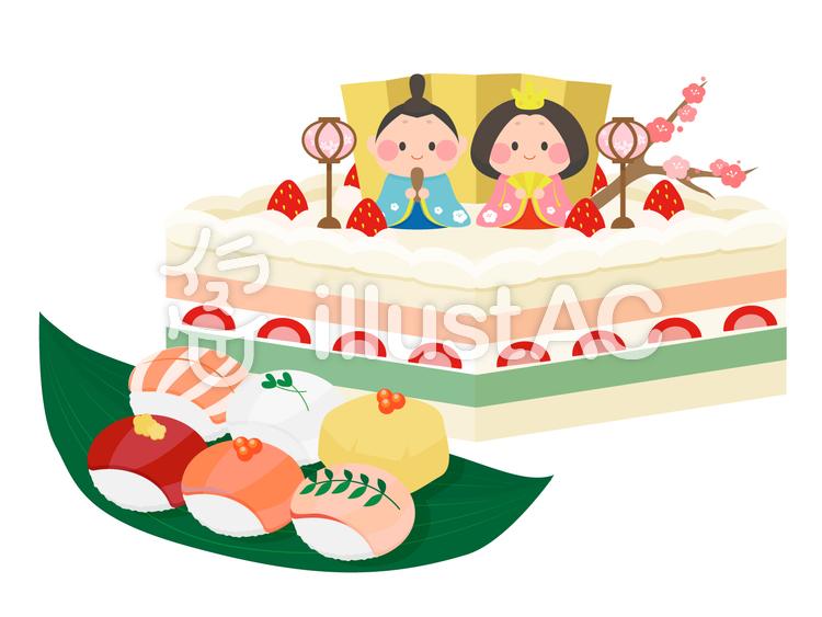 ひな祭りの食べ物イラスト No 126692無料イラストならイラストac