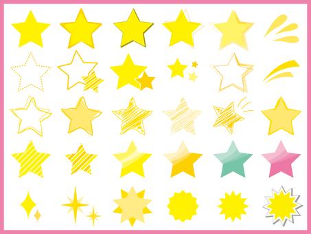 Mark star