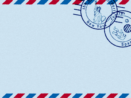 Decorative frame (Air Mail style) Blue
