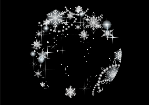 Snow crystal - Round shape