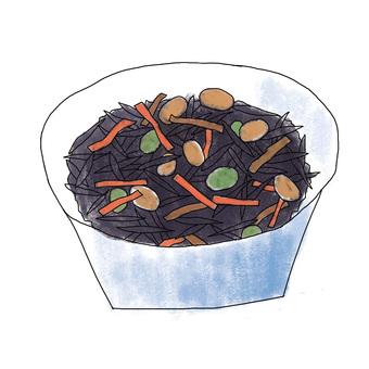 E_ Simulated dish of Hijiki