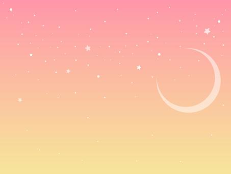 Pink starry sky