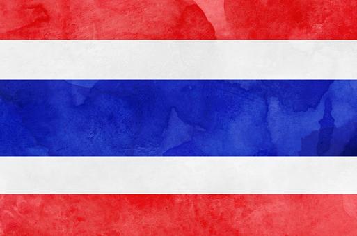 Flag watercolor Thailand