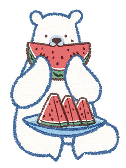 Watermelon Polar Bear