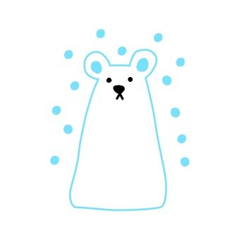 Polar bears in the snow