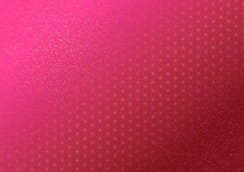 Hemp leaf pattern gold leaf scattering (pink)