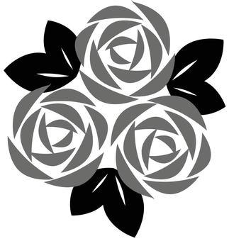 Rose flower monochrome