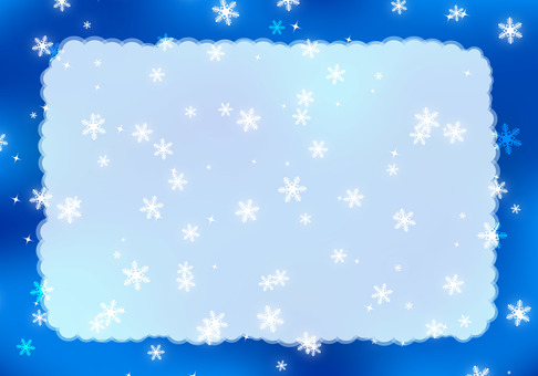 Snow background frame