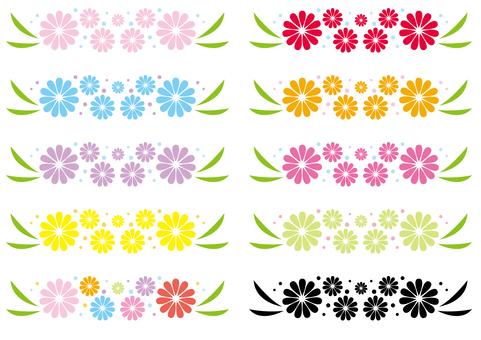 Line - flower parts each color