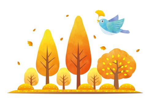 秋の木々と紅葉