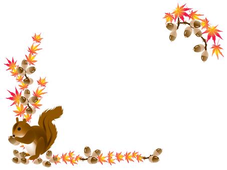 Squirrel Acorn Frame 2