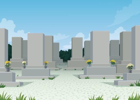 Japanese grave background illustration