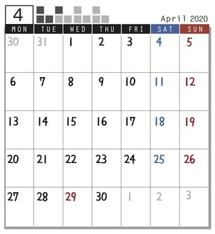 2020 Calendar Plock April