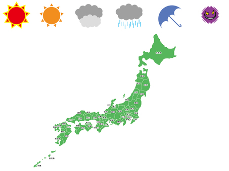 Japan Map Illustration 02