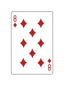 撲克牌鑽石8