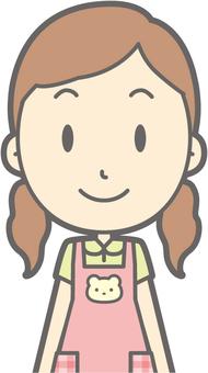 Nursery female - front - bust