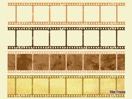 Sepia tone grunge film frame
