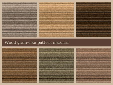Woodgrain pattern material set