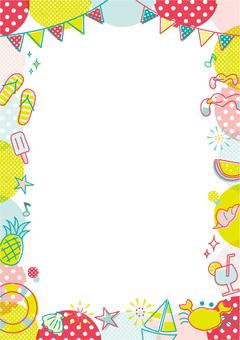 Summer motif frame _ A _ vertical