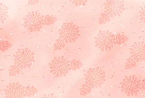 And handle / peach / chrysanthemum