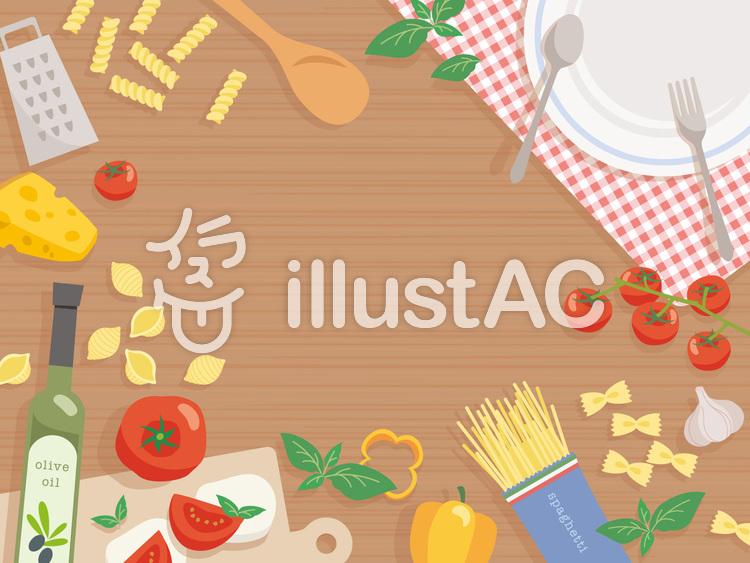 イタリアンの食卓のイラスト