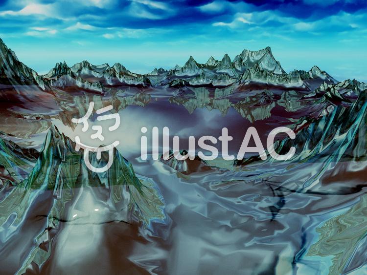 氷の湖のイラスト