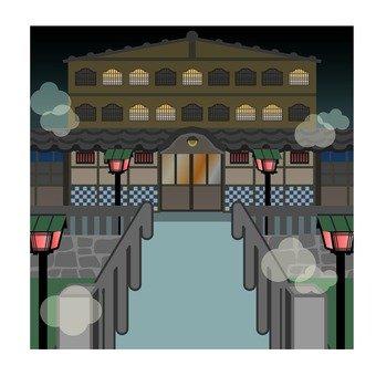 Night hot spring inn