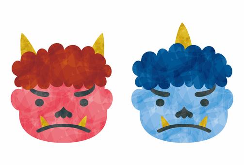 Setsubun / demon's face