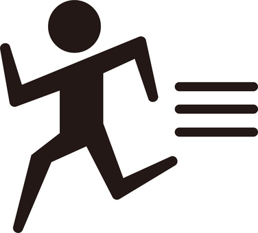 Run human ☆ pictogram icon