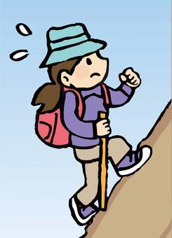 Mountaineering woman