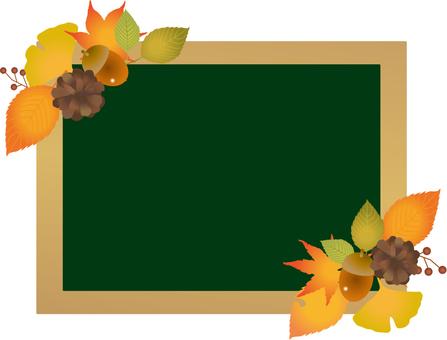 Autumn leaves decorative blackboard