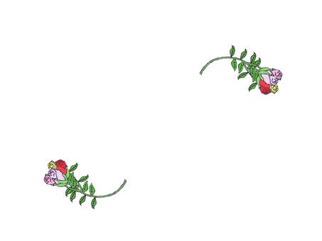 Rose frame (bud)