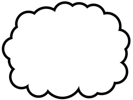 雲形吹き出し