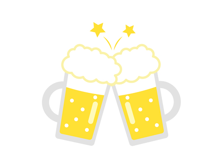ビール乾杯1