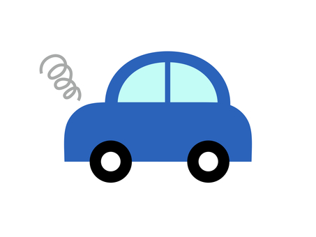 Car car horizontal blue breakdown